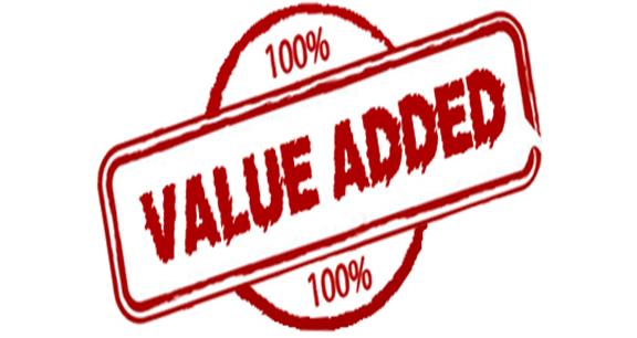 100% Added Value Emblem