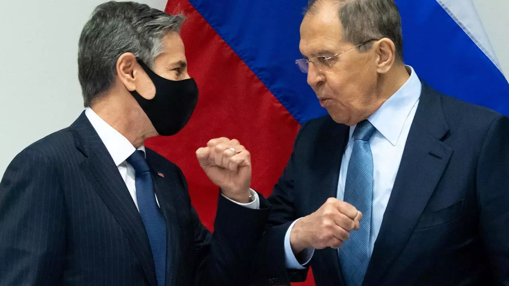 Anthony Blinken And Sergey Lavrov Of Russia