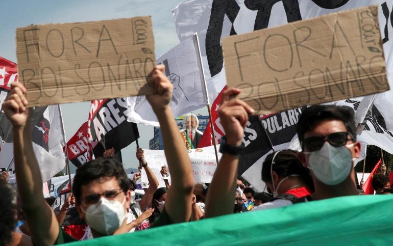 Brazilian Protests Against President Bolsonaro's Handling Of Pandemic