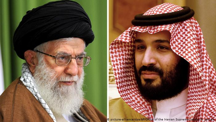 Iranian Supreme Leader Ayatollah Khamenei And Saudi Prince Mohammed bin Salman Al Saud