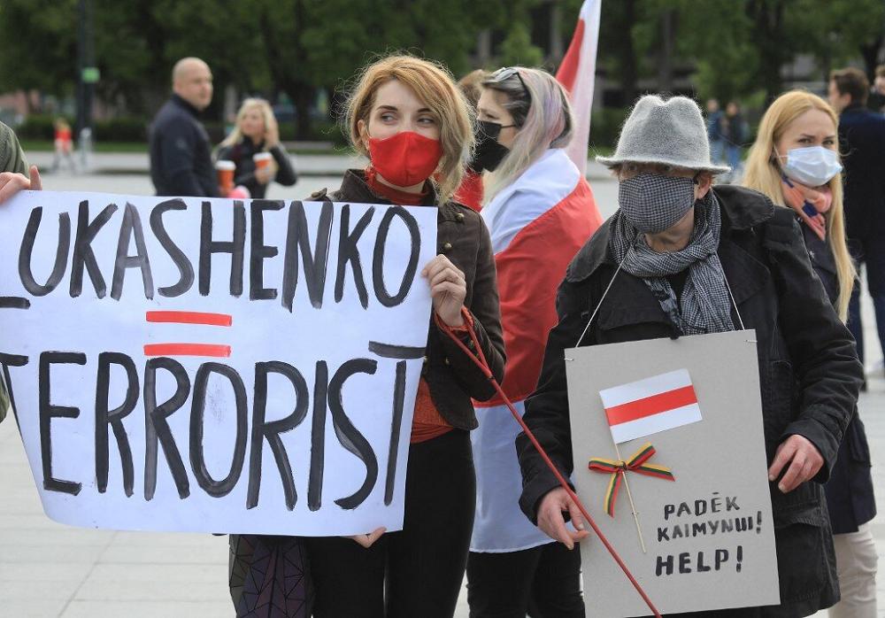 Protestors Against Belarus President Lukashenko