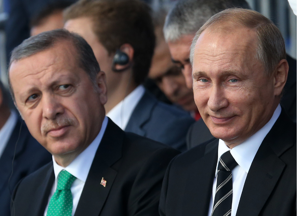 President Recyip Erdogan Of Turkey And President Vladimir Putin Of Russia