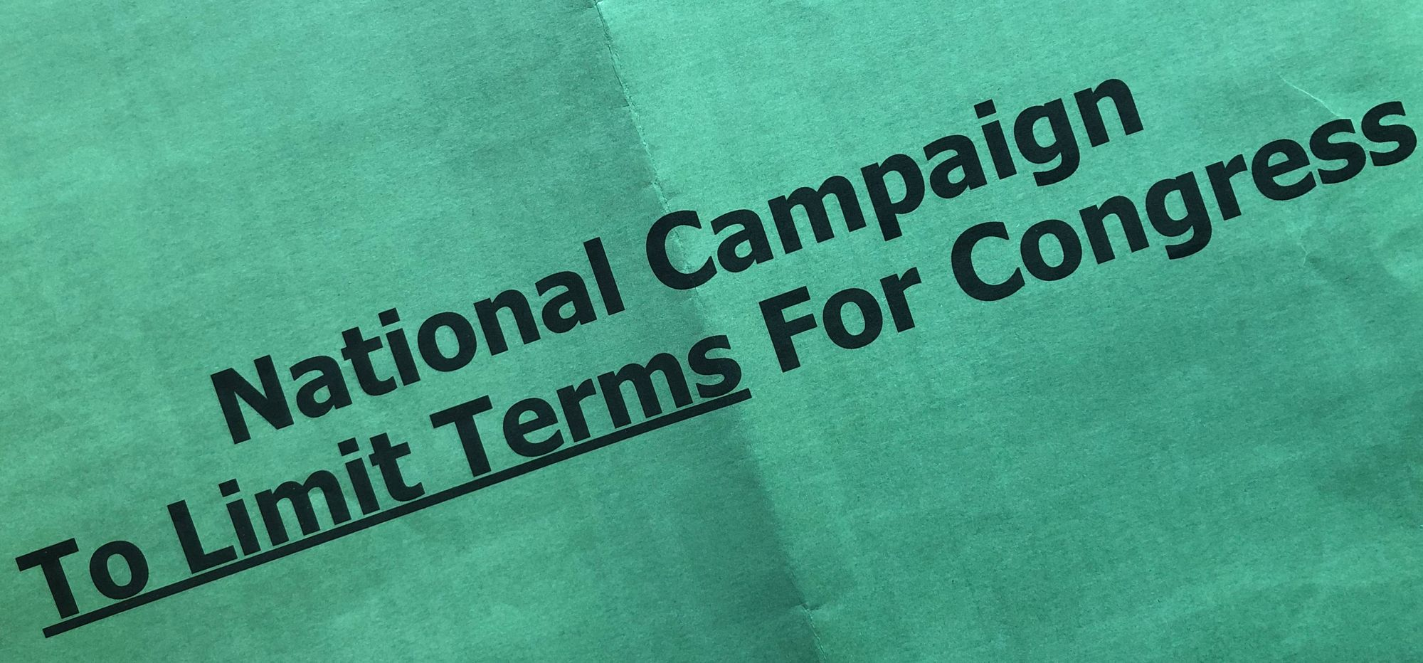National Campaign To Limit Terms For Congress