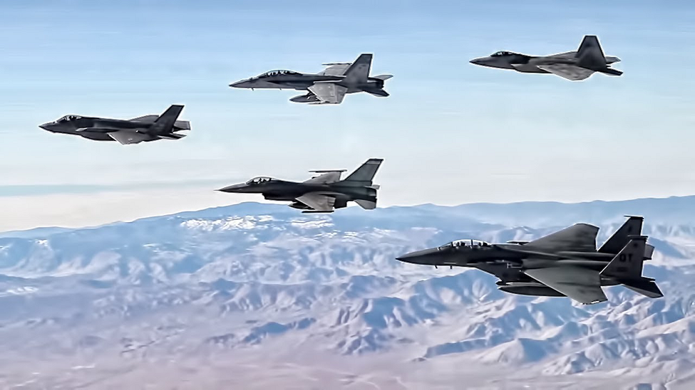 Japanese Airforce In Flying Formation