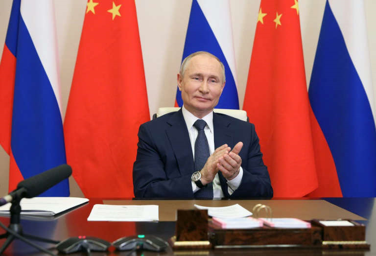 President Vladimir Putin Of Russia Clapping