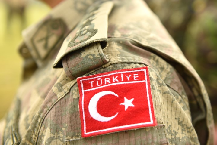 Turkish Military Personnel, Turkish Badge On Uniform