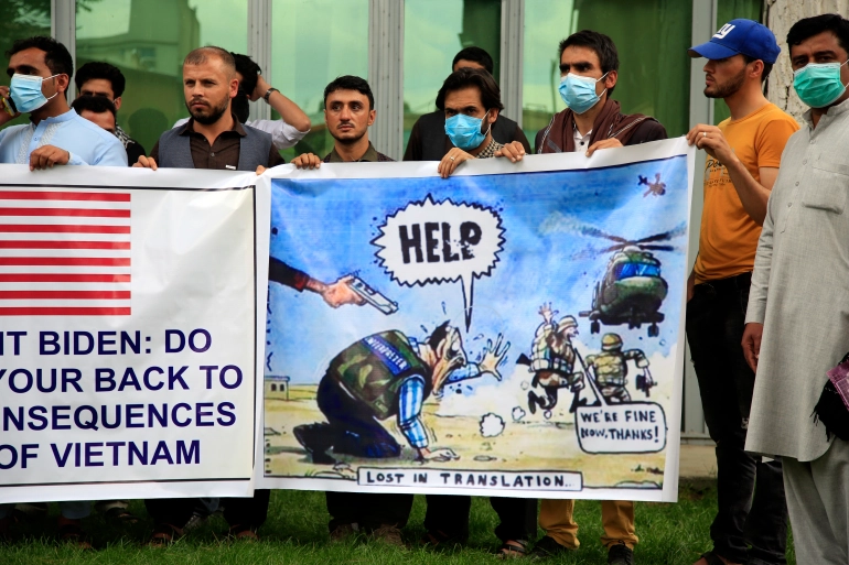 Afghan Protestors Seeking Asylum For Helping The United States