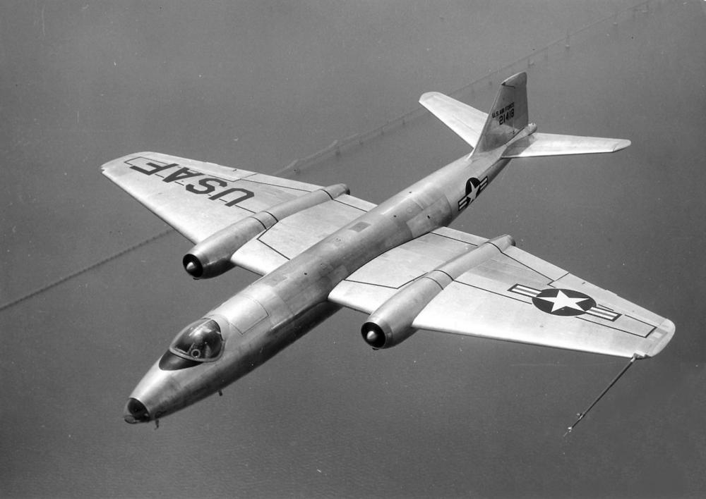 United States Airfoce Martin B57 Bomber circa 1957