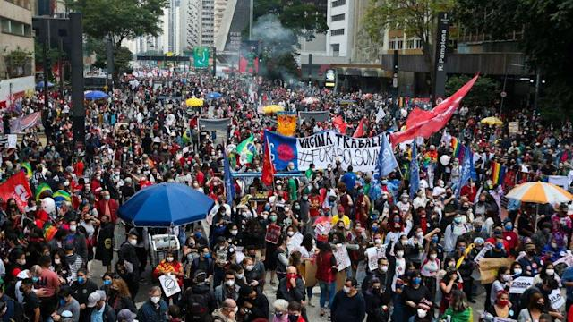 Brazilian Protests Against President Bolsonaro's Pandemic Handling