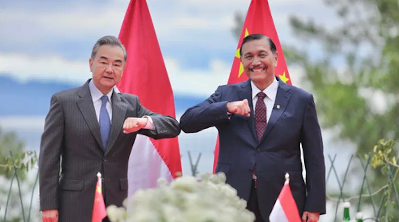 Chinese And Indonesian Ambassadors Elbowing
