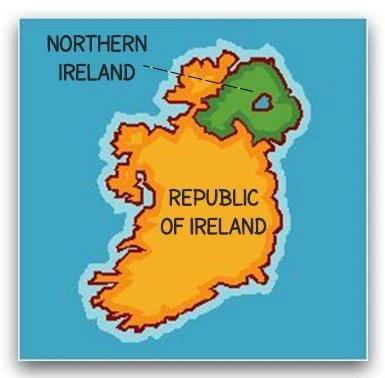 Ireland And Northern Ireland Graphic