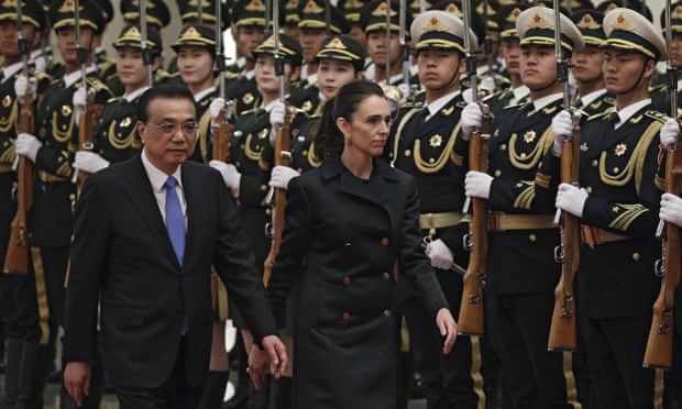 New Zealand President Ardern And Chinese Envoy