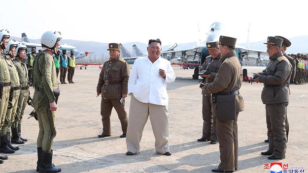 Kim Jong Un Speaking With North Korean Airforce