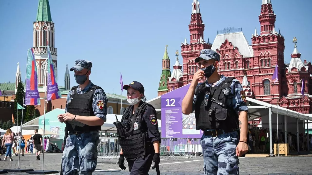 Russian Police In Red Square Moscow