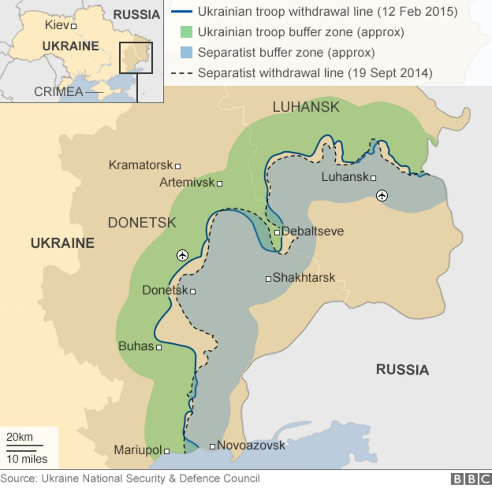 Russian Occupied Ukrainian Provinces Of Luhansk And Donetsk