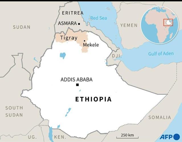 Location of Tigray Region On Ethiopian Map