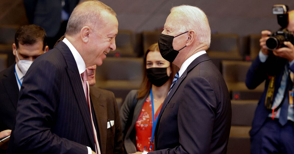 President Of Turkey Recyip Erdogan And U.S President Joe Biden