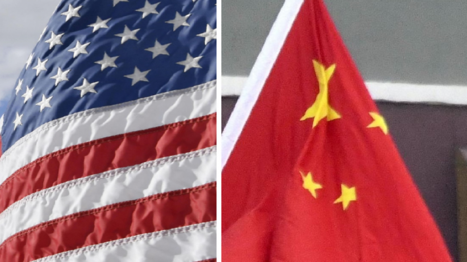 United States And Chinese Flag
