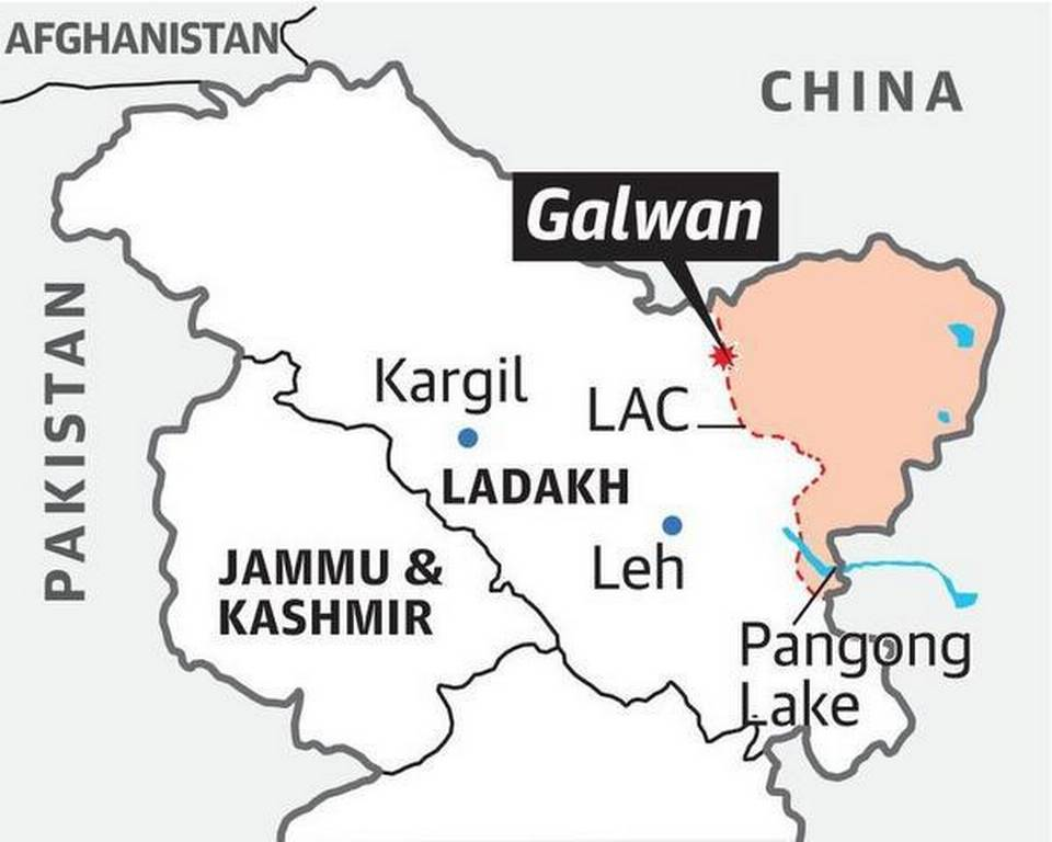 Location Of Galwan Province India