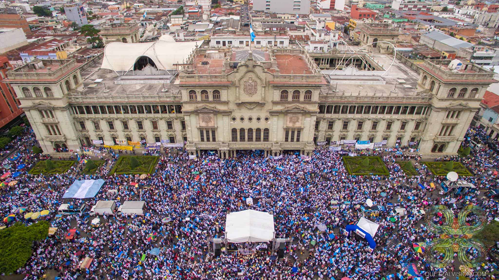 Thousands Of Protesters In Guatemala Call For President's Resignation