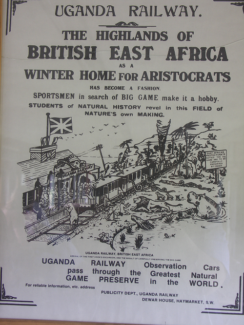 Uganda Rail Way poster circa early 1900's