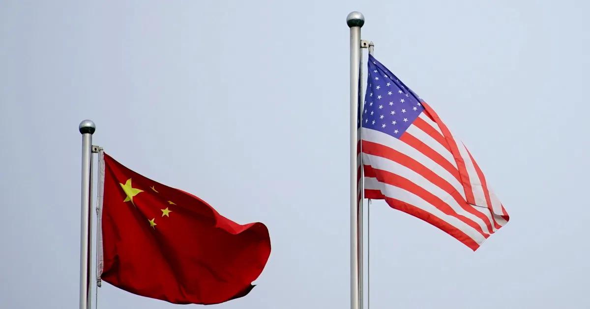 U.S - China flags