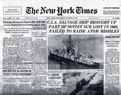 New York Times Article on The Glomar Explorer