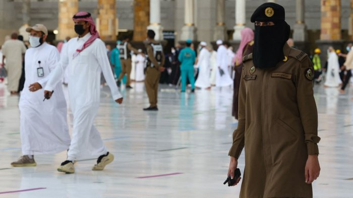 For The First Time, Saudi Women Stand Guard In Mecca During Haj