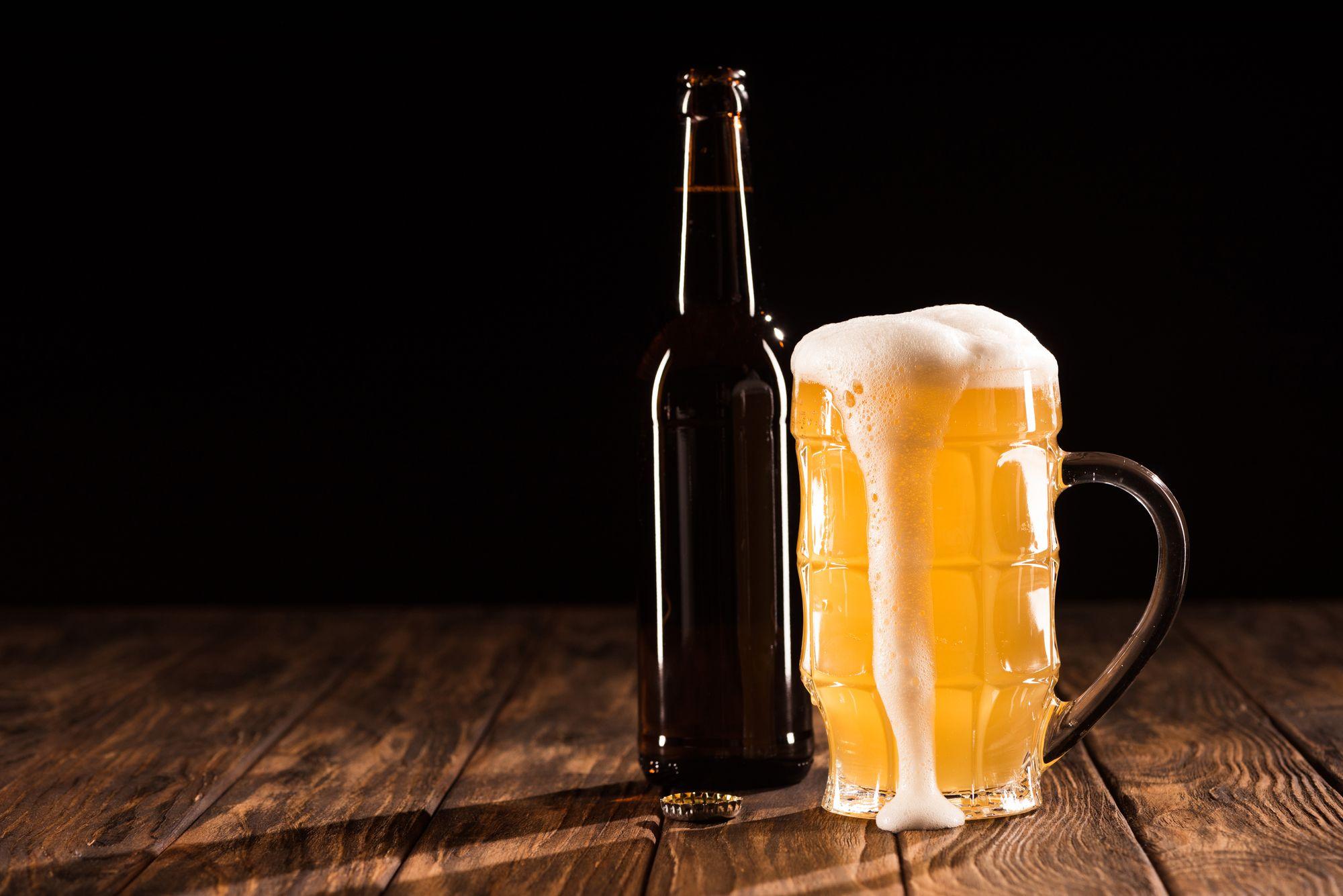 Photo Foaming Beer