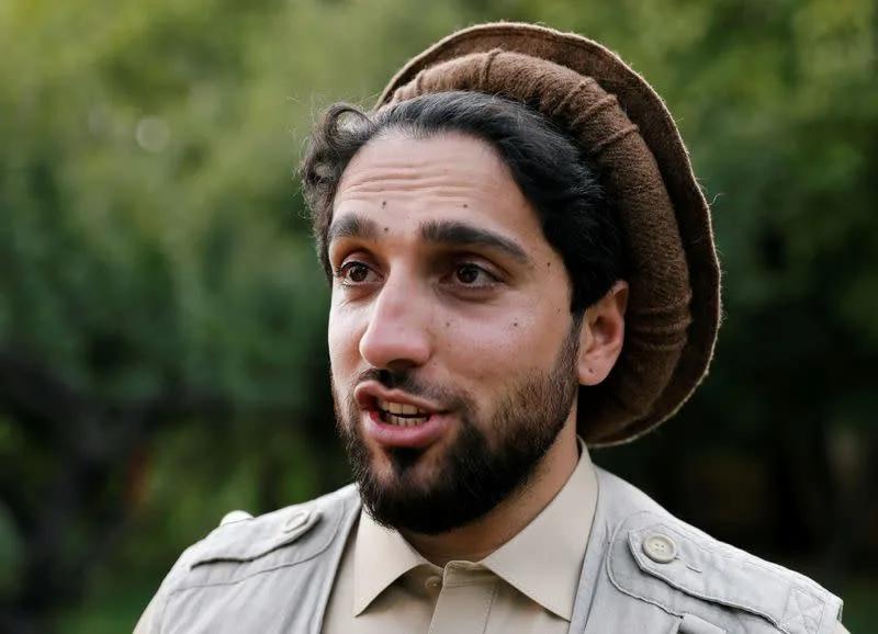 Ahmad Massoud, son of Afghanistan's slain anti-Soviet resistance hero Ahmad Shah Massoud, speaks during an interview at his house in Bazarak, Panjshir province, Afghanistan