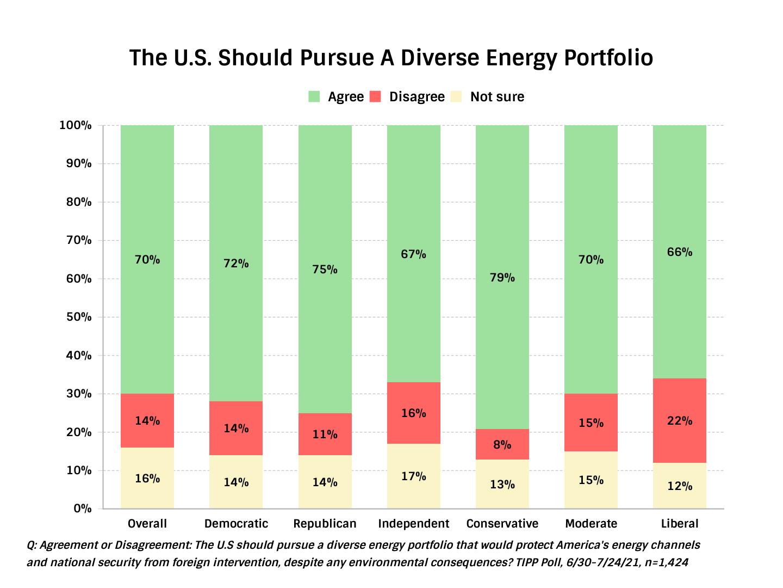 TIPP Poll Result The U.S. should pursue a diverse energy portfolio
