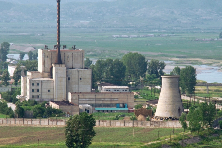 North Korea's key Yongbyon nuclear plant is photographed in June 2008 [Kyodo via Reuters]