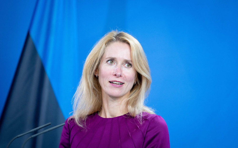 Estonian Prime Minister Kaja Kallas says the West needs a unified infrastructure plan to compete with China