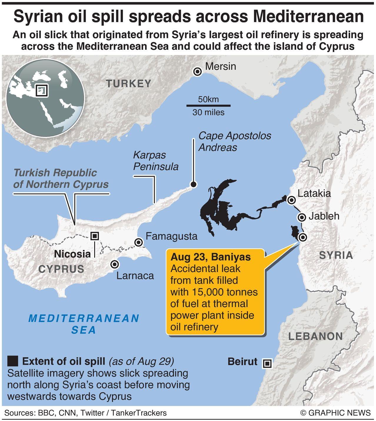 Syrian oil spill