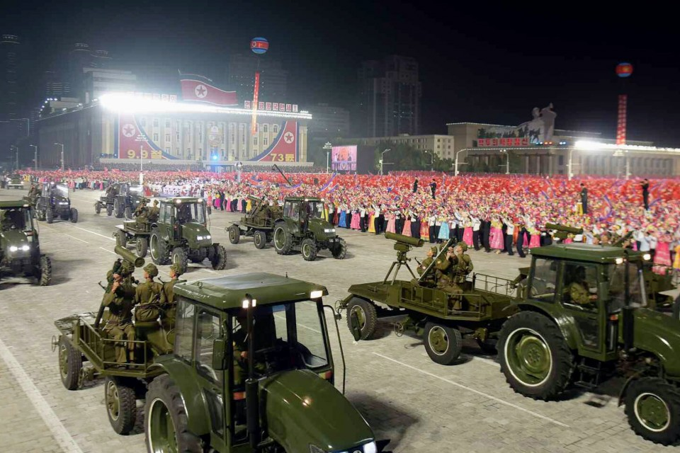 North Korea Stages Military Parade Amid Worst Food Crisis In Decade
